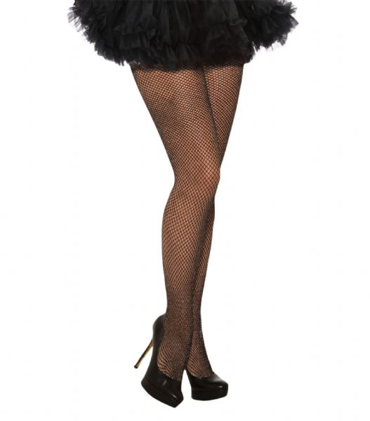 Ladies Fishnet Tights Glitter Black